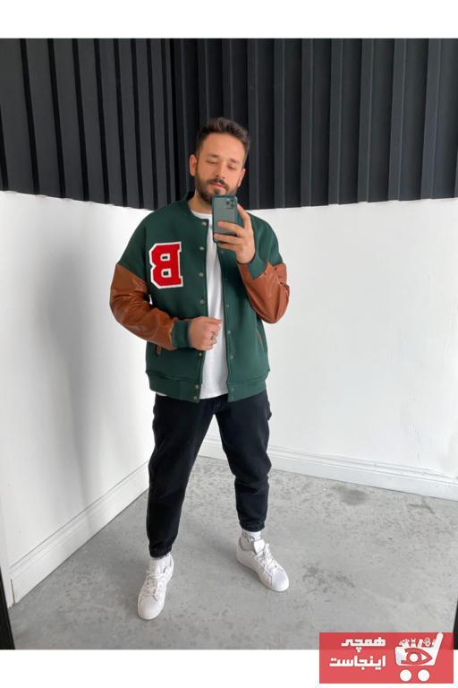 خرید انلاین ژاکت چرم طرح دار برند BYBASICMAN رنگ طلایی ty80184909