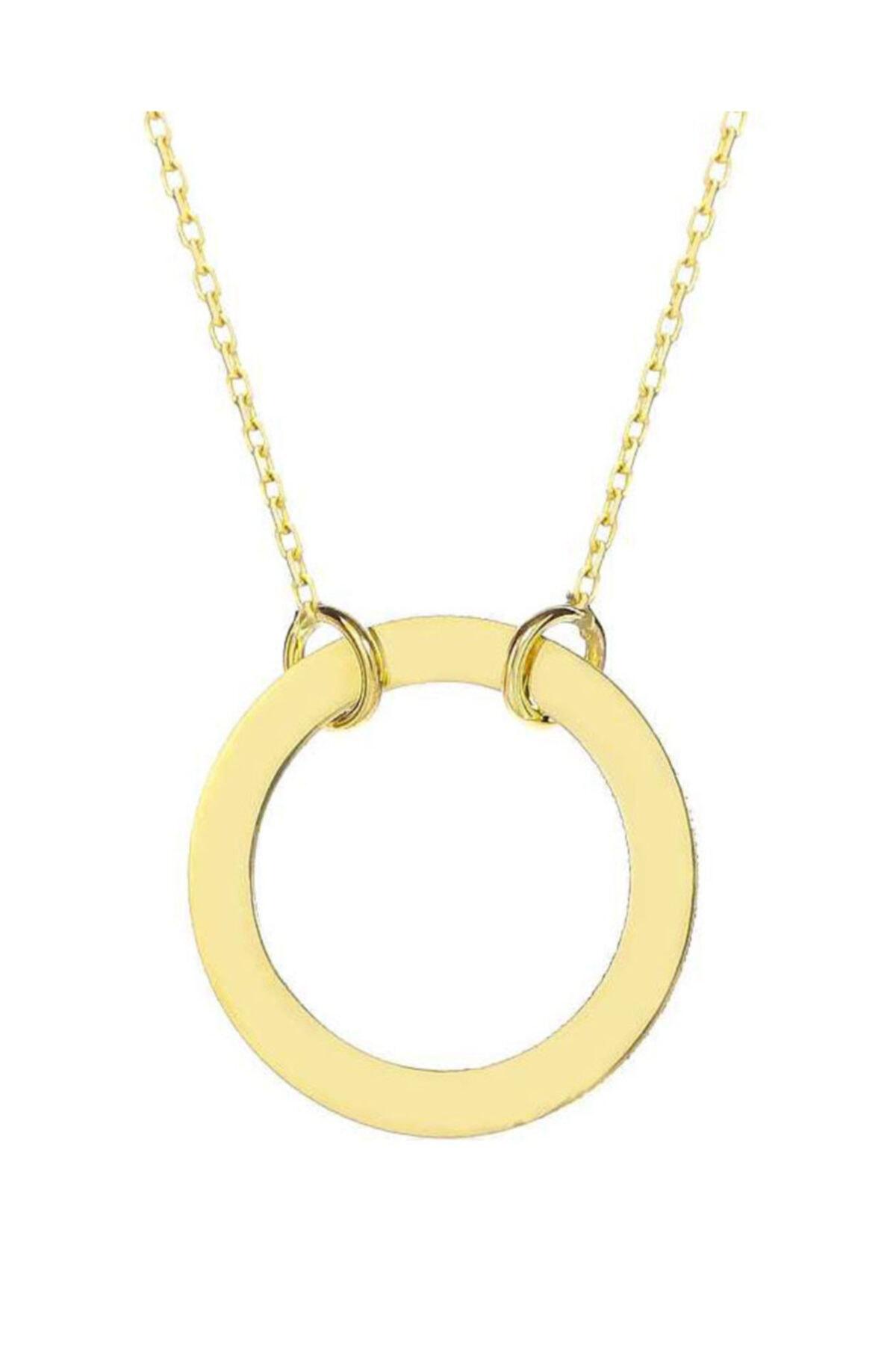 خرید نقدی گردنبند طلا شیک برند MOOM MÜCEVHERAT رنگ زرد ty80309563
