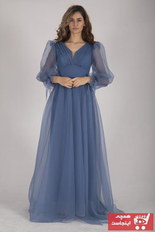 لباس مجلسی خاص برند belamore رنگ لاجوردی کد ty80519063