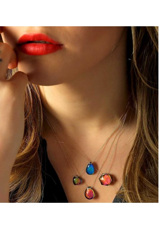 فروش گردنبند زنانه فانتزی برند MOOM MÜCEVHERAT رنگ آبی کد ty80783280
