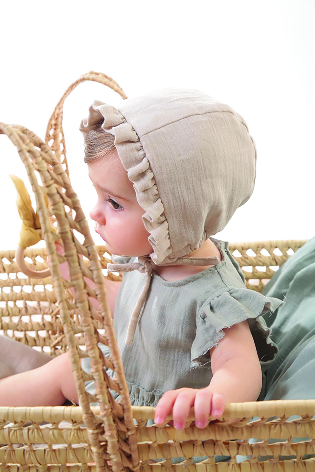 فروش کلاه نوزاد دختر خفن برند Siminie رنگ بژ کد ty81078237