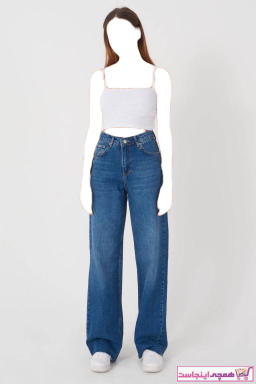 شلوار جین زنانه تابستانی برند Addax رنگ لاجوردی کد ty81530993