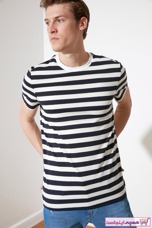 فروش تی شرت مردانه ترک مجلسی برند ترندیول مرد رنگ لاجوردی کد ty81680195