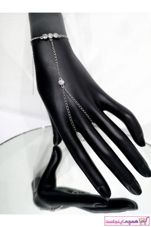 دستبند انگشتی زنانه خاص برند Roza Takı رنگ نقره کد ty82300719