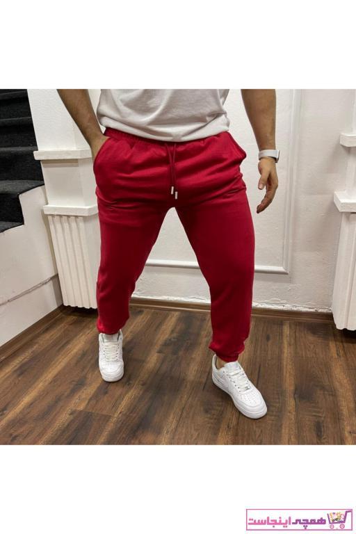 فروش پستی شلواراسلش مردانه شیک جدید برند overelaxx رنگ قرمز ty82336467