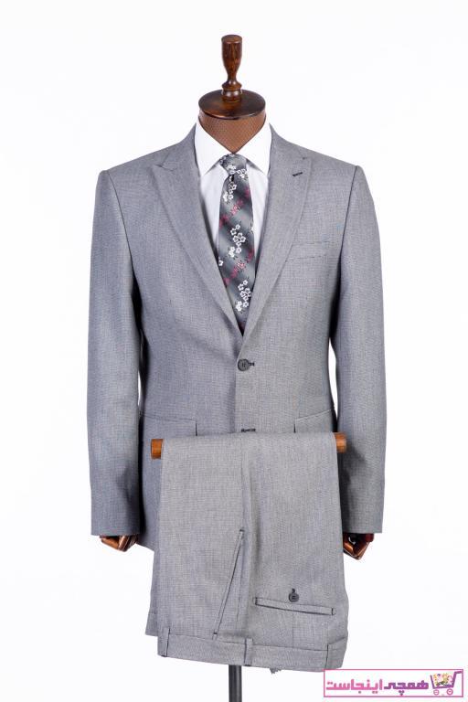 کت شلوار ساده برند AEK FIORE رنگ نقره ای کد ty82353818