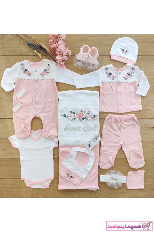 ست لباس نوزاد قیمت برند Sitilin رنگ صورتی ty82686486