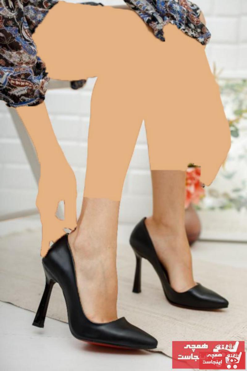کفش پاشنه بلند مجلسی فانتزی زنانه برند MUZAN رنگ مشکی کد ty83030748