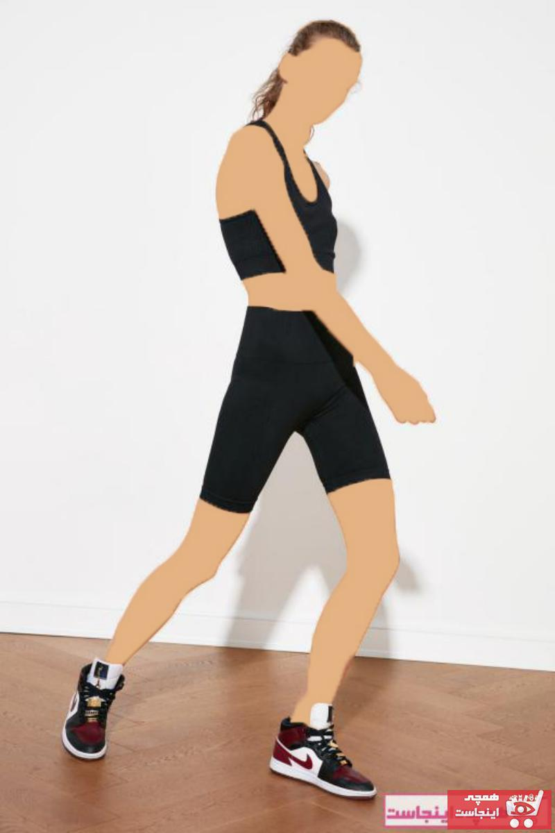 ساپورت ورزشی زنانه مدل 2021 مارک ترندیول میلا رنگ مشکی کد ty83284240