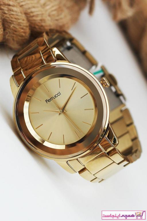 خرید آنلاین ساعت مچی زنانه برند Ferrucci رنگ طلایی ty83610157
