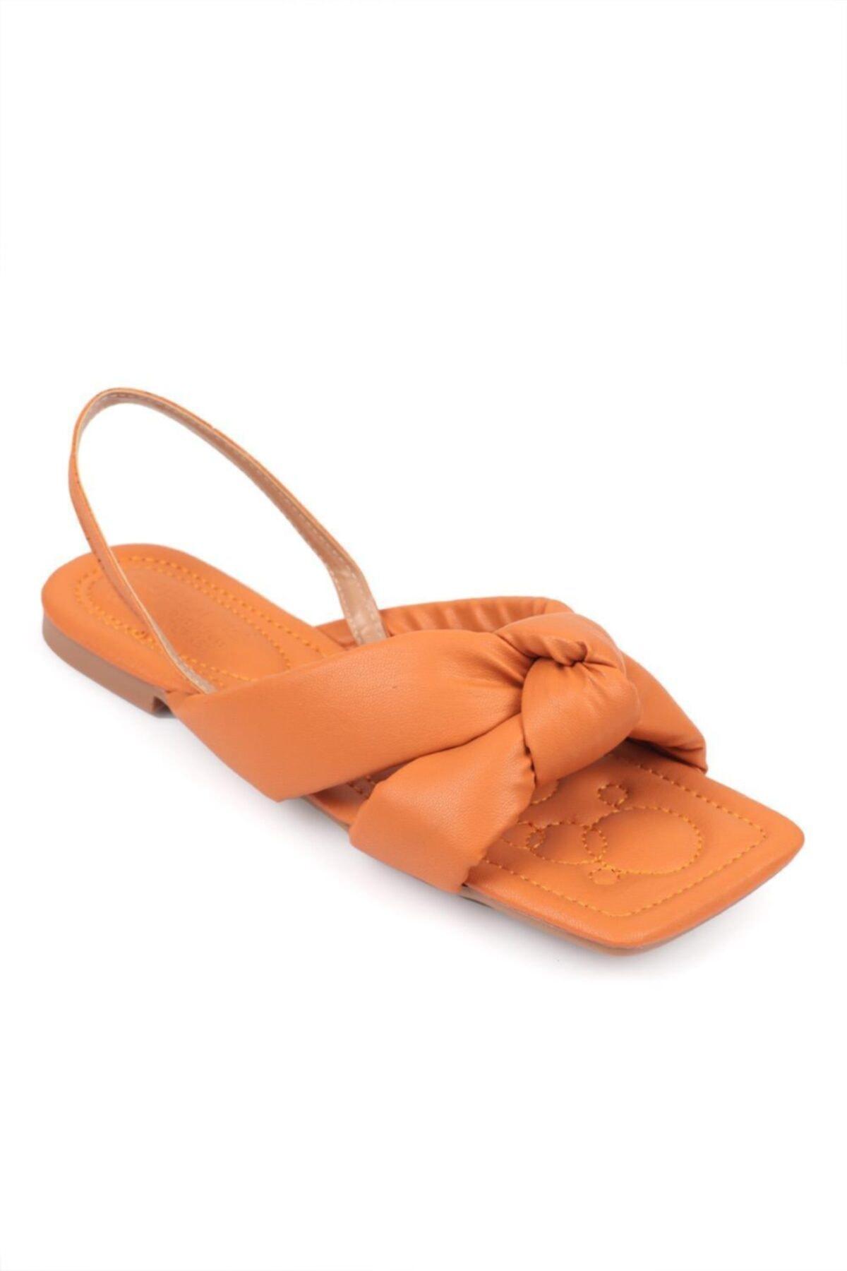 خرید نقدی صندل دخترانه ترک  برند Capone Outfitters رنگ نارنجی کد ty83819239
