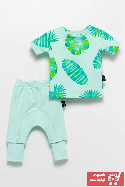 ست لباس نوزاد دخترانه ارزان برند Moi Noi رنگ سبز کد ty84057996