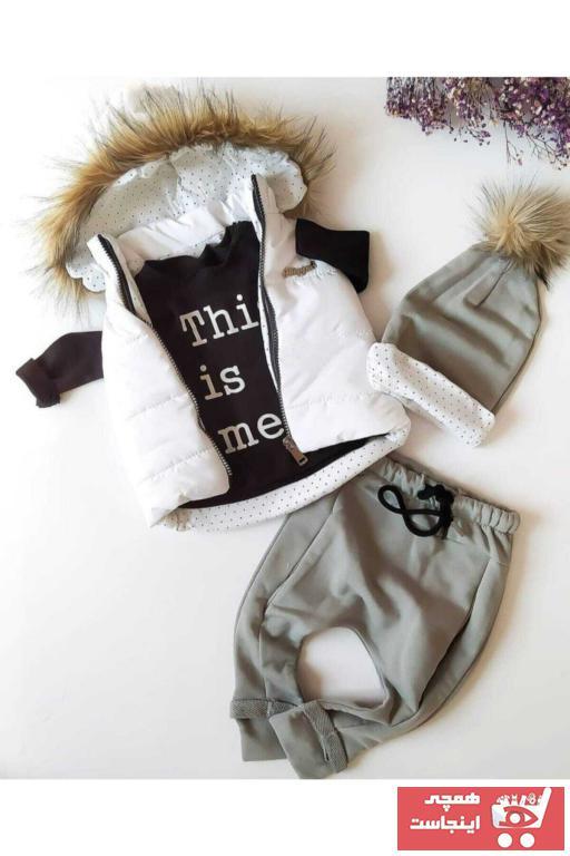 ست لباس نوزاد پسرانه شیک برند Hippıl Baby رنگ زرشکی ty84679571