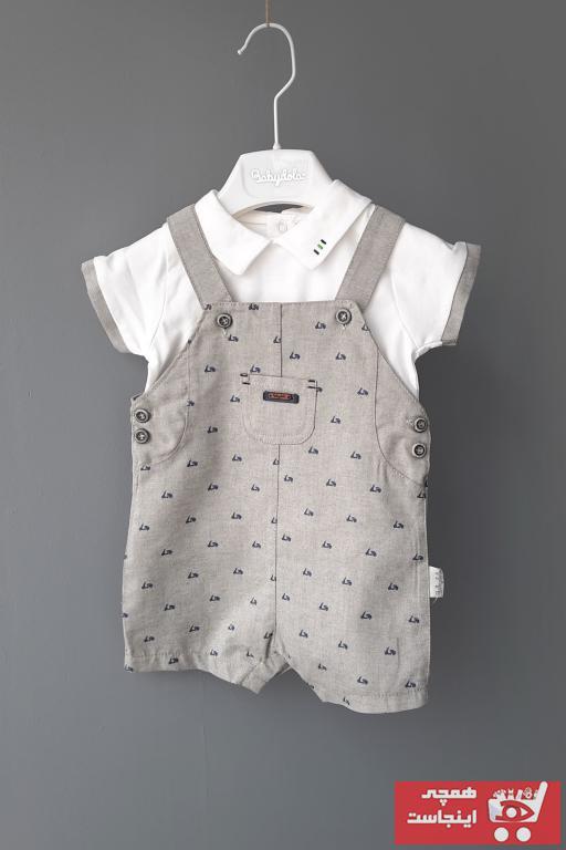 فروش پستی ست لباس نوزاد پسرانه شیک جدید برند Babydola رنگ نقره ای کد ty84718628