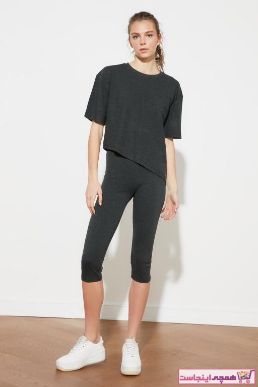 خرید لگ ورزشی زنانه شیک ارزان برند ترندیول میلا رنگ نقره ای کد ty84845973