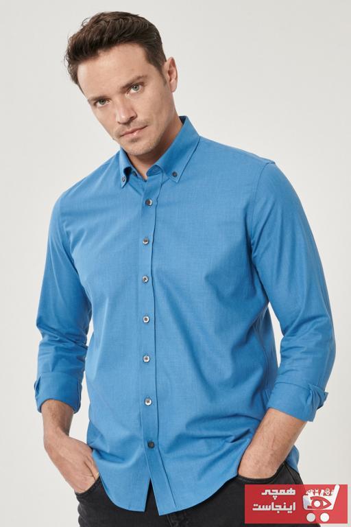 پیراهن مردانه جدید برند AC&Co رنگ آبی کد ty85228841