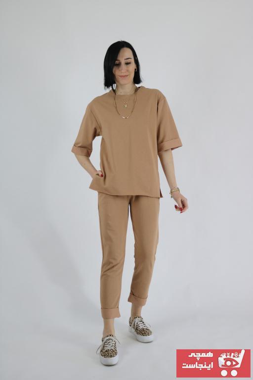 خرید ست ورزشی زنانه ترک جدید برند Tuğbanın Butiği رنگ قهوه ای کد ty85984705