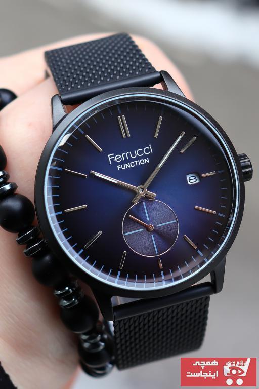 خرید پستی ساعت مردانه اصل برند Ferrucci رنگ مشکی کد ty86108797