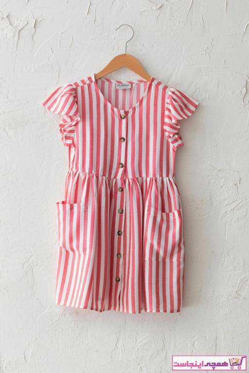 فروشگاه پیراهن دخترانه اینترنتی مارک ال سی وایکیکی رنگ قرمز ty86296646