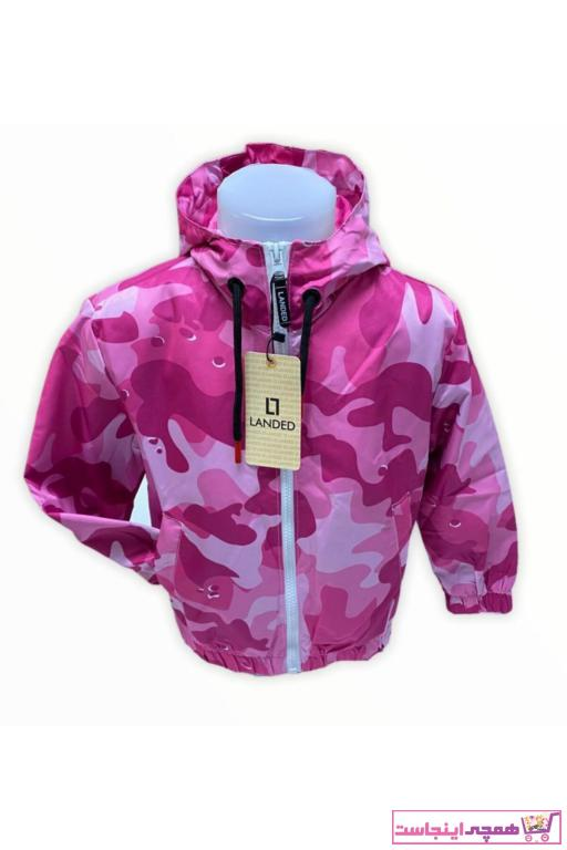بارانی دخترانه مدل برند Landed رنگ صورتی ty86347260