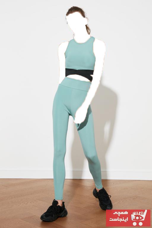 خرید اینترنتی لگ ورزشی زنانه برند TRENDYOLMİLLA رنگ آبی کد ty86348809