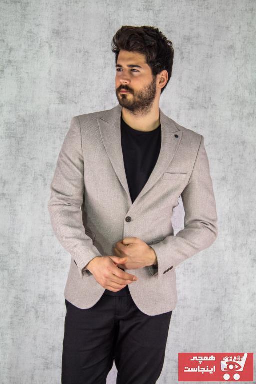 کت تک مردانه اصل جدید برند twenplus رنگ بژ کد ty86437182