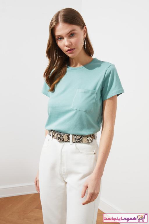 فروش تیشرت زنانه جدید برند TRENDYOLMİLLA رنگ آبی کد ty86483672