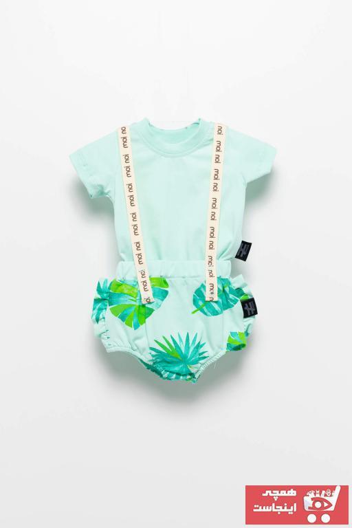خرید انلاین ست لباس نوزاد پسرانه ترکیه برند Moi Noi رنگ سبز کد ty86505916