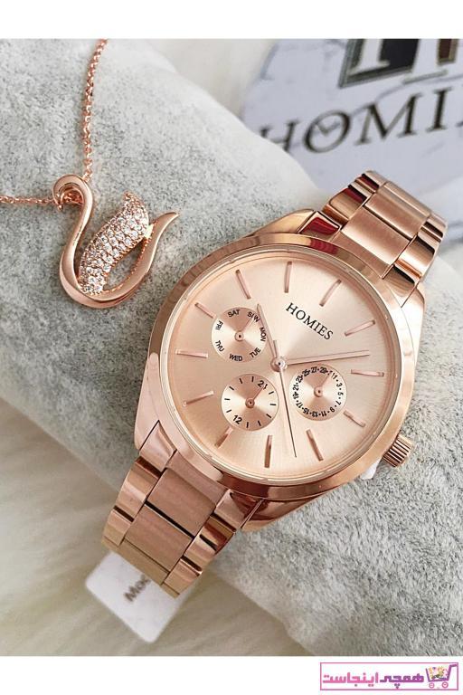 خرید آنلاین ساعت مچی زنانه لوکس برند Homies رنگ متالیک کد ty86512903