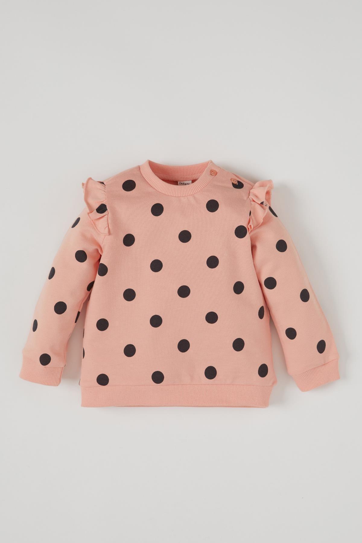 فروش اصل سویشرت نوزاد دختر برند دفاکتو ترکیه رنگ صورتی ty86741360