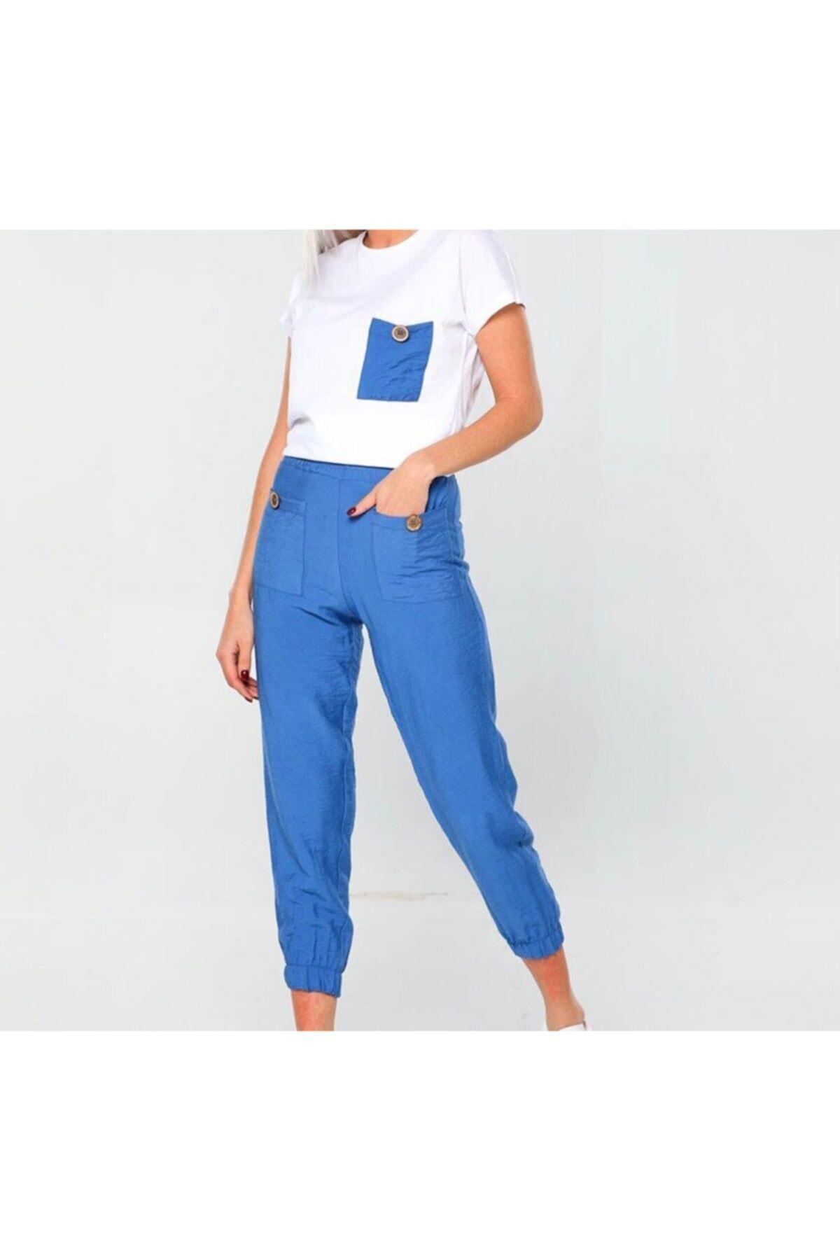 فروش اینترنتی ست ورزشی زنانه با قیمت برند Çarşım Mağazaları رنگ آبی کد ty87067675