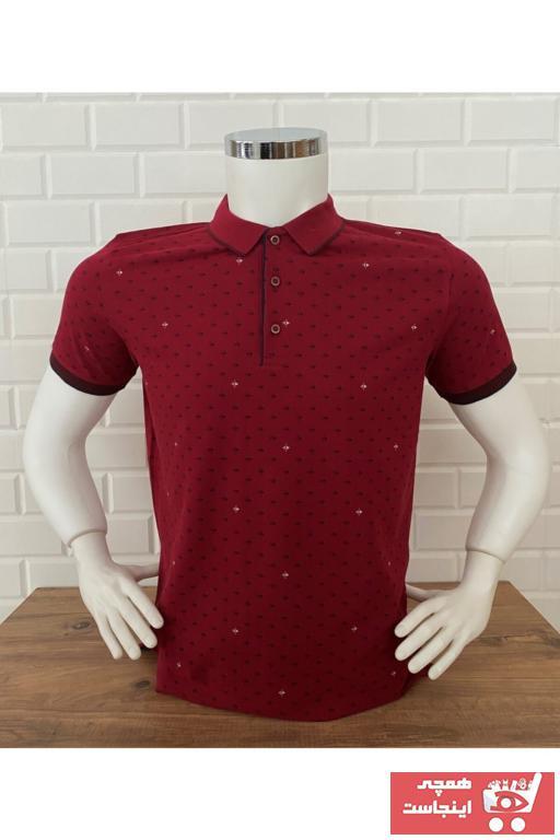 تی شرت مردانه فروش برند Dio Rise رنگ زرشکی ty87269878