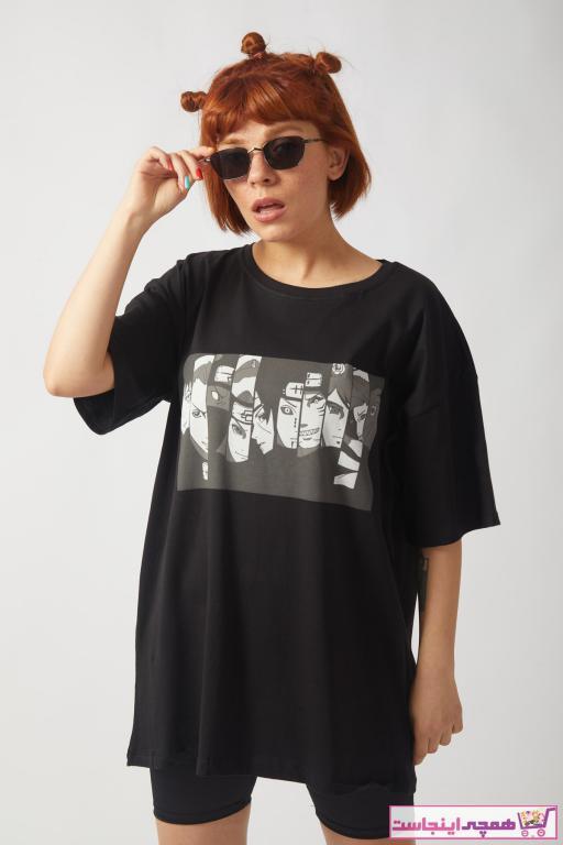 تیشرت زنانه ارزان قیمت برند EFBUTİK رنگ مشکی کد ty87441816