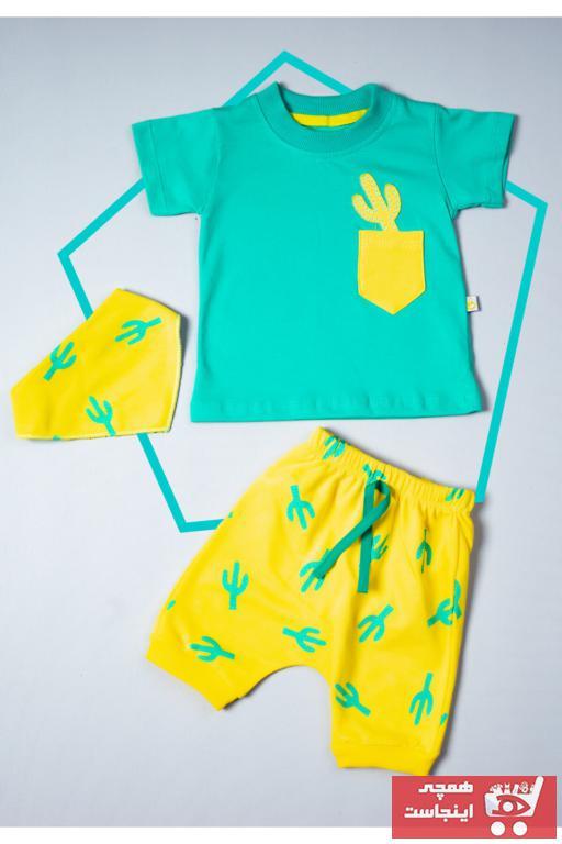 ست لباس نوزاد پسرانه ترکیه برند ikon bebek رنگ سبز کد ty87481756