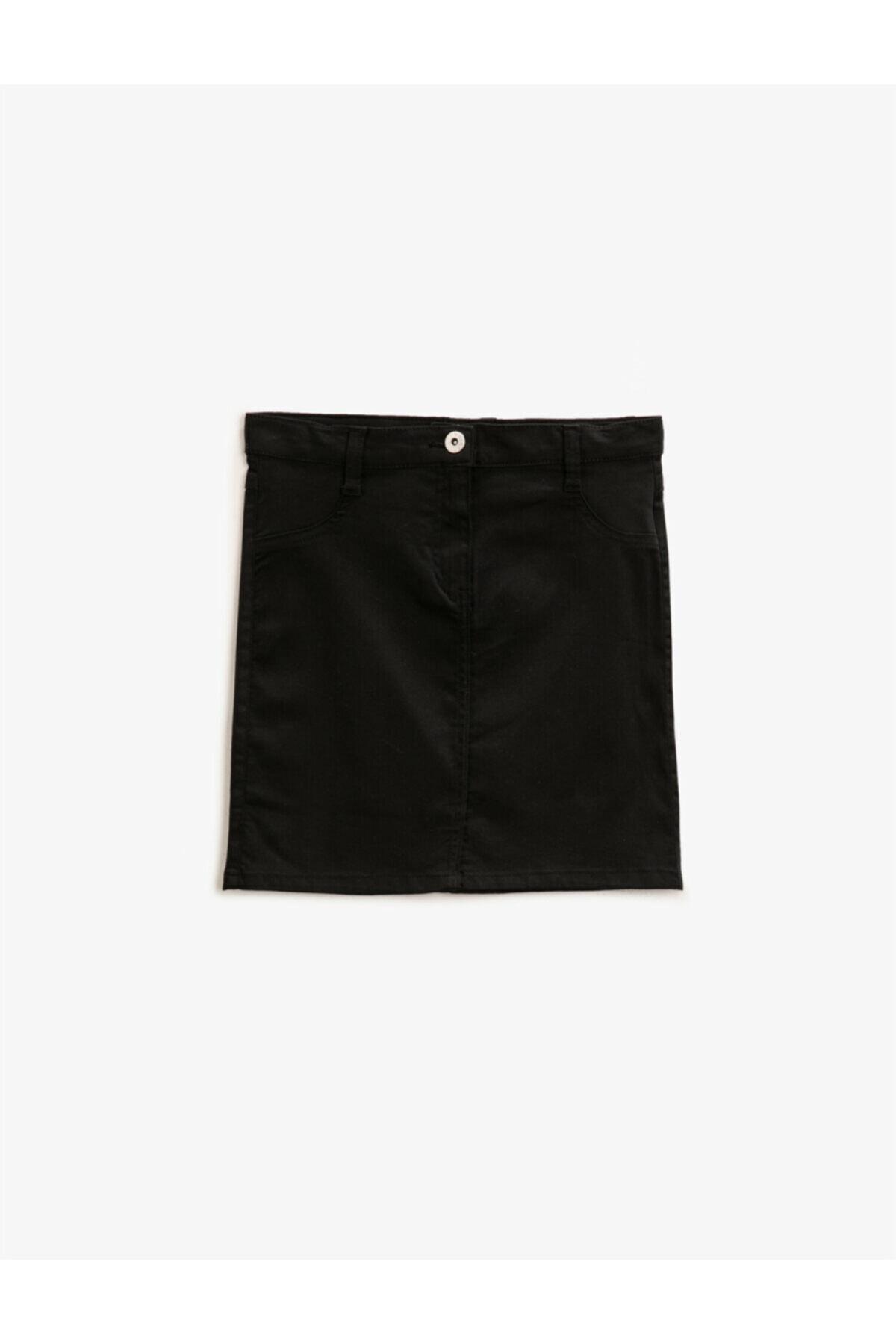 دامن دخترانه مارک دار برند کوتون رنگ مشکی کد ty87523162