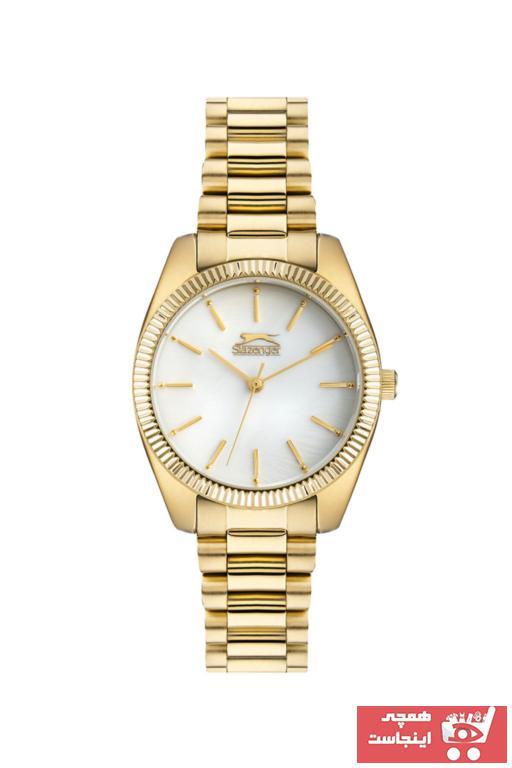 خرید ارزان ساعت زنانه برند اسلازنگر رنگ طلایی ty87771357