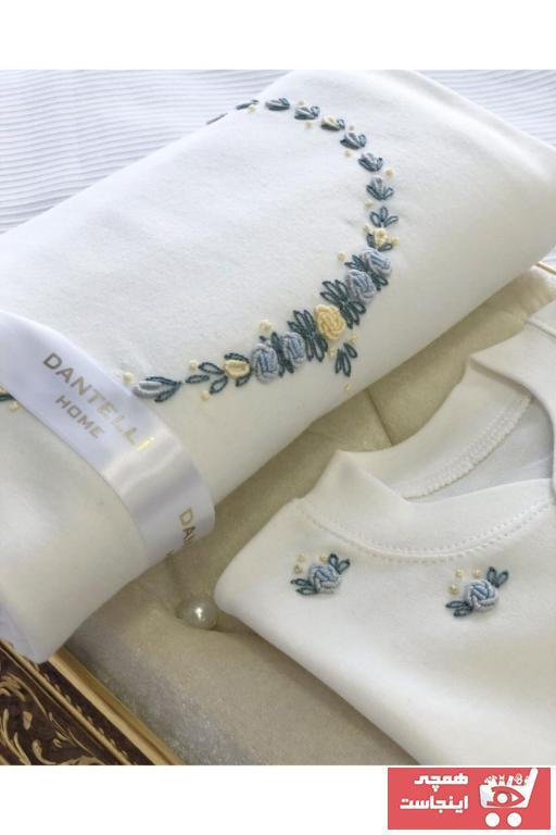 سفارش ست لباس ارزان نوزاد برند dantellihome رنگ بژ کد ty88203502