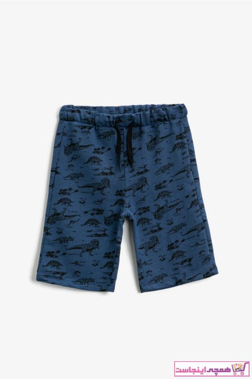 شلوارک پسرانه پارچه نخی برند کوتون رنگ آبی کد ty88905613