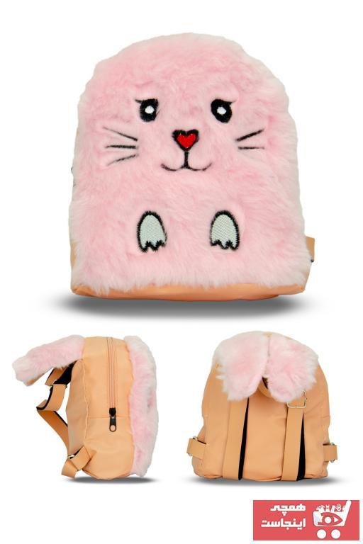 کوله پشتی بچه گانه دخترانه فروش برند Frm textile رنگ صورتی ty88968385