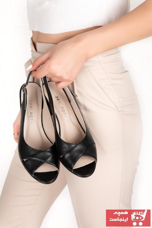 خرید انلاین پاشنه دار زیبا زنانه برند Deripotin رنگ مشکی کد ty88988460