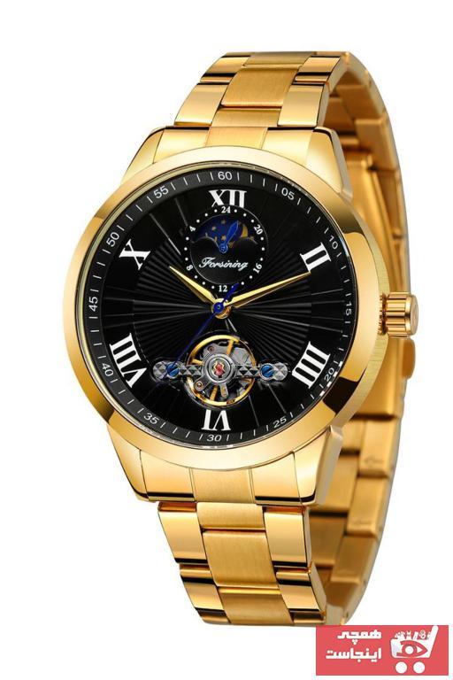 خرید آنلاین ساعت مردانه اورجینال برند Forsining رنگ طلایی ty89175002