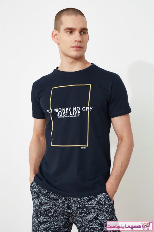 خرید نقدی تیشرت پاییزی مردانه مارک ترندیول مرد رنگ لاجوردی کد ty89209494