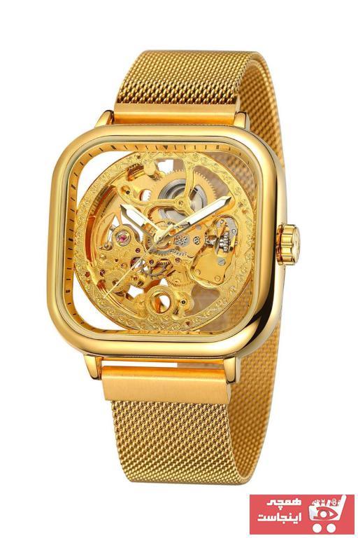 خرید ساعت مردانه جدید برند Forsining رنگ طلایی ty89382450