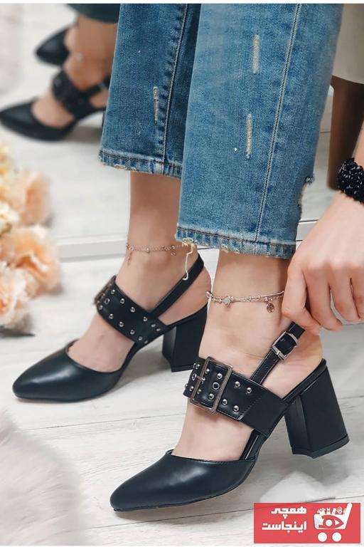 پاشنه دار زنانه مجلسی برند Mida Shoes رنگ مشکی کد ty89422536