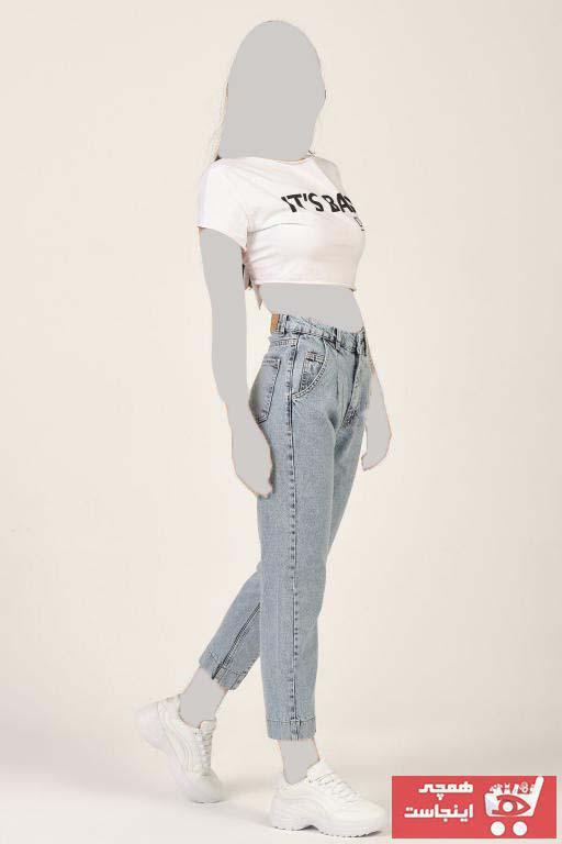 فروش شلوار جین زنانه حراجی برند its basic رنگ آبی کد ty89456629