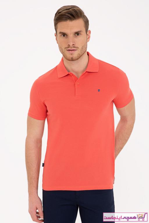 فروش پولوشرت مردانه نخی برند پیرکاردین رنگ صورتی ty89612255