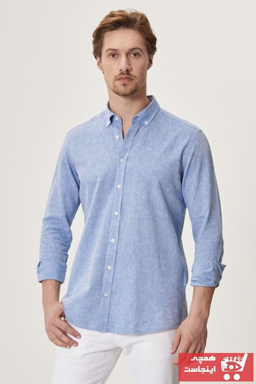 خرید اینترنتی پیراهن اسپرت مردانه برند AC&Co رنگ آبی کد ty89658471