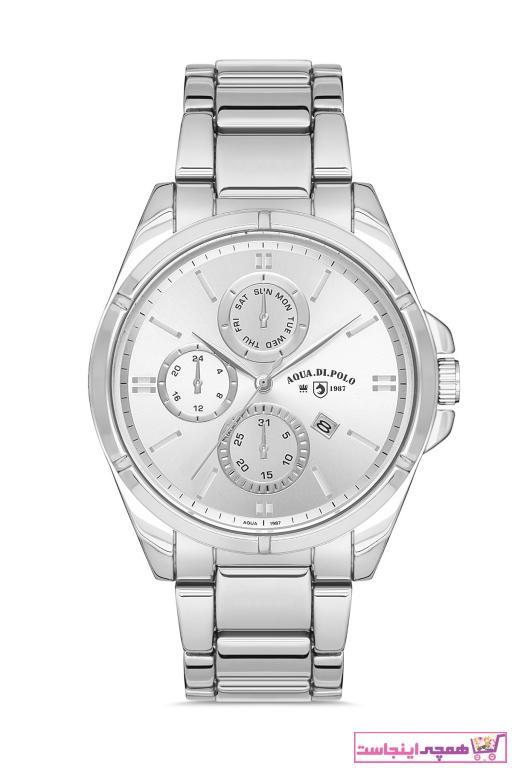 خرید پستی ساعت زیبا برند Aqua Di Polo 1987 رنگ نقره کد ty89804973