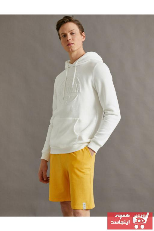 شلوارک مردانه مدل 2020 برند کوتون رنگ زرد ty89844224