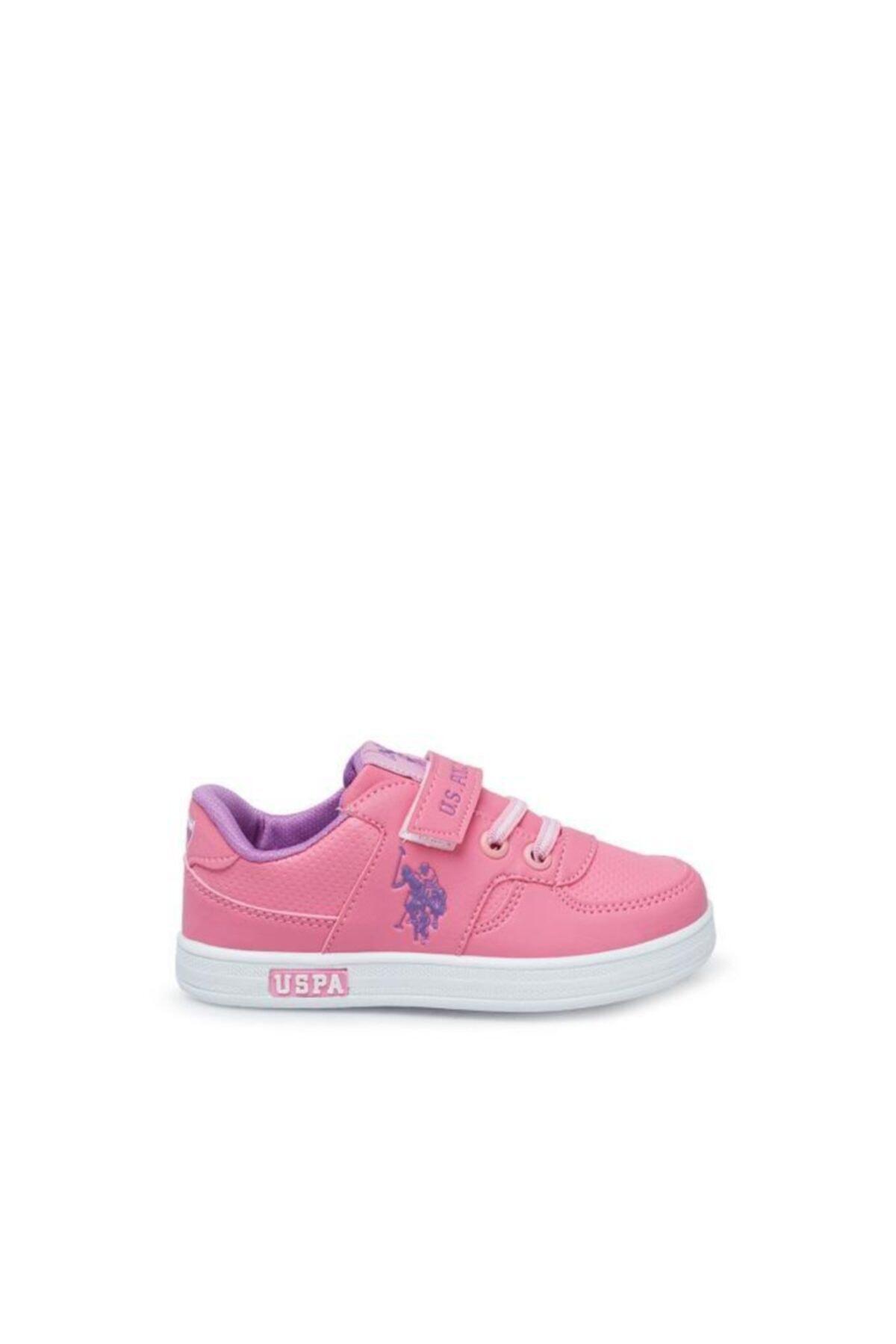 کفش اسپرت جدید بچه گانه دخترانه شیک برند U.S. Polo Assn. رنگ صورتی ty89950231